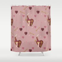 valentines Shower Curtains featuring Steampunk Valentines by S. Vaeth