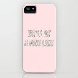fine line iPhone Case