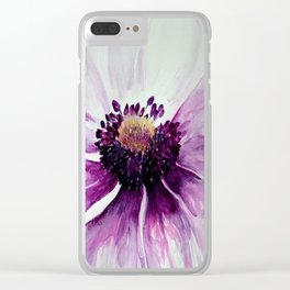Sweet Anemone of Purple watercolor by CheyAnne Sexton Clear iPhone Case
