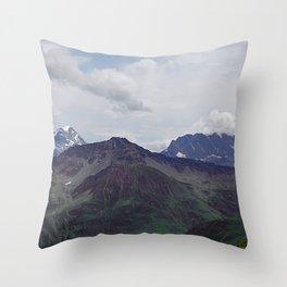Alps Mountains Peaks Alpine landscape Throw Pillow