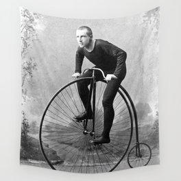 Velocipede racer Wall Tapestry
