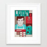 dexter Framed Art Prints featuring Dexter by Josè Sala