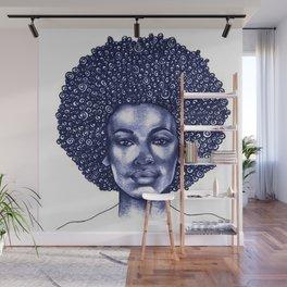 Spiral Afro Wall Mural