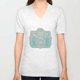 I Still Shoot Film Holga Logo - Reversed Turquoise/Tan Unisex V-Neck