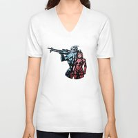 garrus V-neck T-shirts featuring No Shepard Without Vakarian by Weissidian
