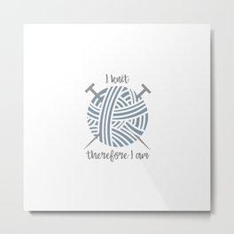 I knit Metal Print
