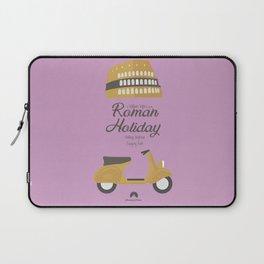 Roman Holiday, Audrey Hepburn,movie poster, Gregory Peck, William Wyler, romantic hollywood film Laptop Sleeve