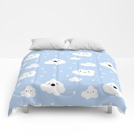 Blue Clouds Comforters