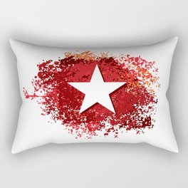 abstract grunge painted background and star Rectangular Pillow