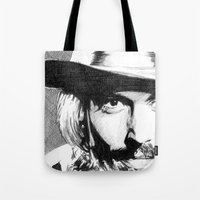 johnny depp Tote Bags featuring Johnny Depp by DeMoose_Art
