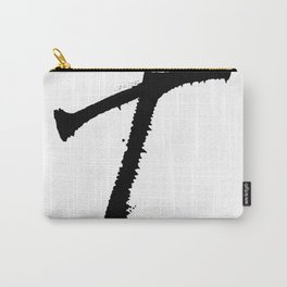 Letter T Ink Monogram Carry-All Pouch