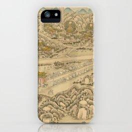 Panoramic view of the Ming Tombs (c. 1736) Ming shi san ling tu iPhone Case