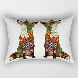 fox love off white Rectangular Pillow