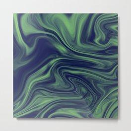 Green Lava Metal Print