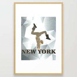 Gymnastics New York Framed Art Print