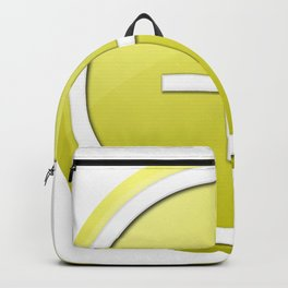 Yellow Plus Button Backpack