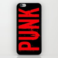 punk rock iPhone & iPod Skins featuring PUNK by Silvio Ledbetter