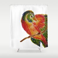 birdy Shower Curtains featuring Birdy by LaurenMarie94