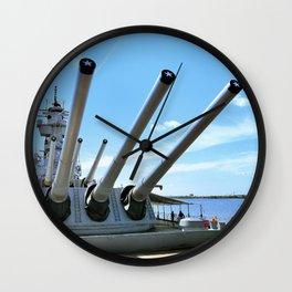 Bringing Out The Big Guns Wall Clock