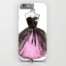 Pink and Black Sheer Dress Fashion Illustration iPhone 6s Slim Case