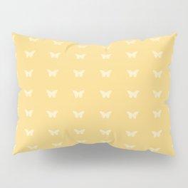 Minimal Butterfly Pattern - Yellow Pillow Sham