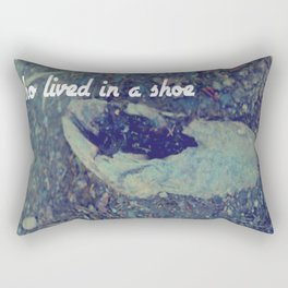 There was an old woman who lived in a shoe Rectangular Pillow