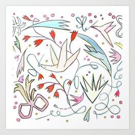 Nesting birds Art Print