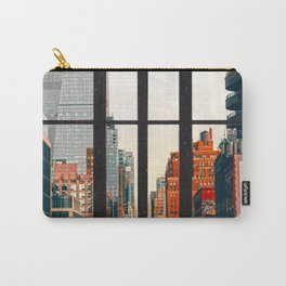 New York City Window #2-Surreal View Collage Carry-All Pouch