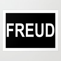 freud Art Prints featuring Freud  by themateriamaster