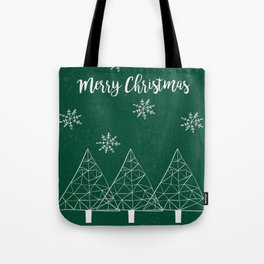 Merry Christmas Green Tote Bag