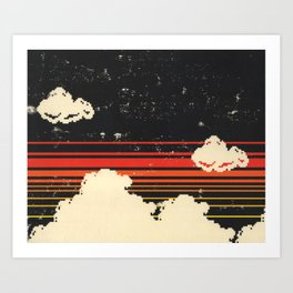 Clouds in the Sky at Night Art Print
