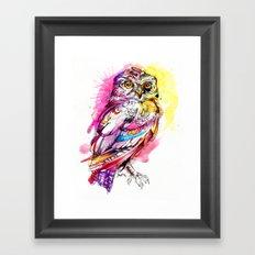 Neon Northern Pygmy Owl Framed Art Print