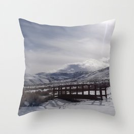 A Winter's Serenity Throw Pillow