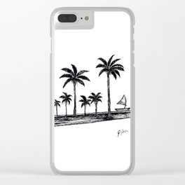 Landscape where peace is present Clear iPhone Case
