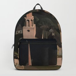 Midnight Ride of Paul Revere by Grant Wood, Boston, Massachusetts landscape painting Backpack