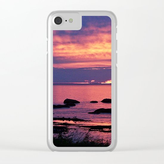 Sunset on the Mighty St-Lawrence Clear iPhone Case