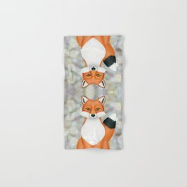 fox woodland animal portrait Hand & Bath Towel