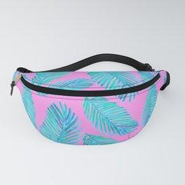 Neon Palm Leaf Pattern Fanny Pack