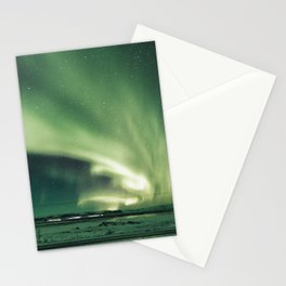 Aurora borealis in iceland Stationery Cards