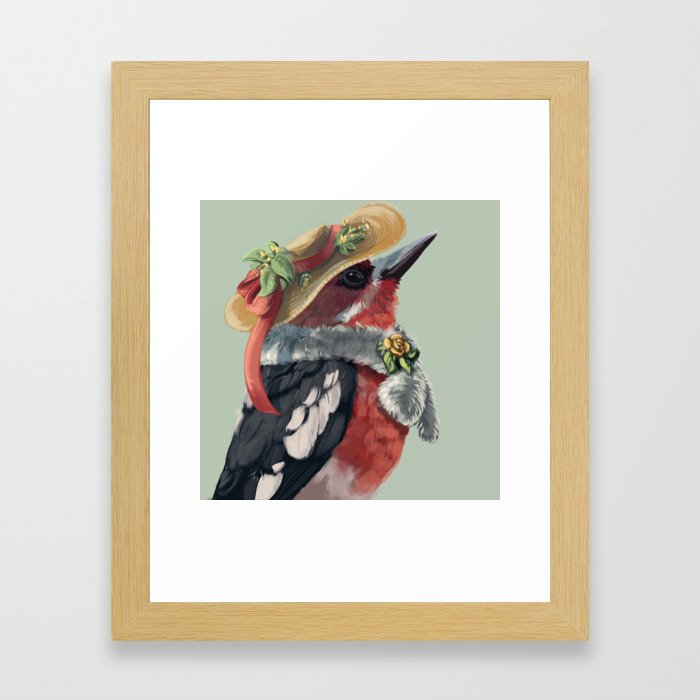 Red-breasted Sapsucker Framed Art Print by Lauren Helton - Conservation Natural - X-Small-10x12 photo