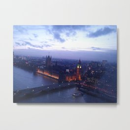 London at Dusk Metal Print