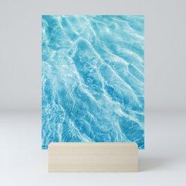 Ripple Water, Sun Reflection Water, Blue Water Mini Art Print