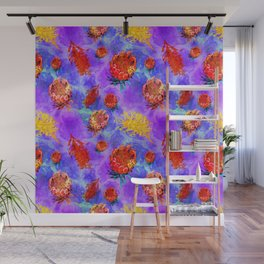 Colourful Australian Native Floral Print Wall Mural