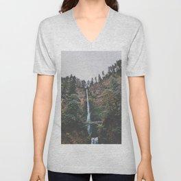 Majestic Multnomah Falls Unisex V-Neck