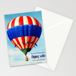 Flying Solo Is Never Boring Stationery Cards