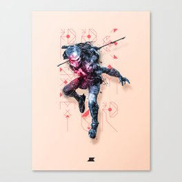 Heroes and Villains Series 2: Predator Canvas Print