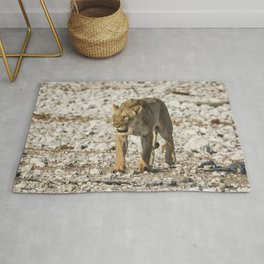 Lioness on the Move Rug