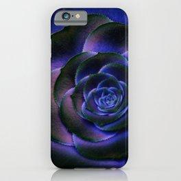 Deep Blue Succulent iPhone Case