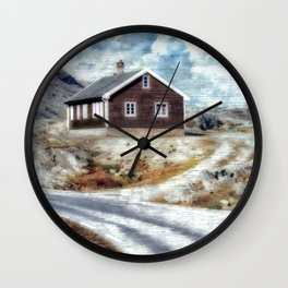 House On Dalsnibba Road Wall Clock
