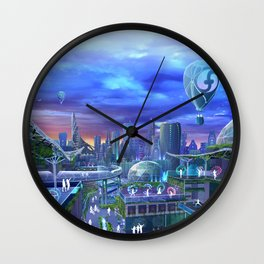 flowtopia Wall Clock